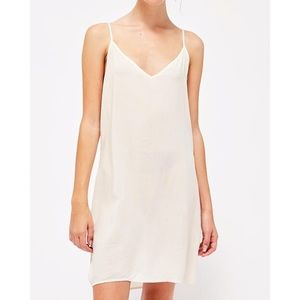 LACAUSA Easy V Slip Dress Women's XS NEW